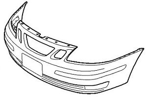 SAAB 9-3 2004-2007 Front Bumper Cover Genuine Aero NEW