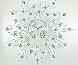 Visualizza altre idee su orologio, orologi da parete, orologi in legno. Orologio Da Parete O Da Muro Design Moderno In Metallo Placche E Vetro Da Cucina Ebay