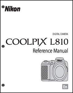 Nikon CoolPix L810 Digital Camera User Guide Instruction