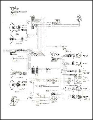 1976 Corvette Original Foldout Wiring Diagram OEM