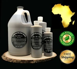 Liquid African Black Soap Raw 100% Pure Organic Natural Body Wash Bulk ALL SIZES