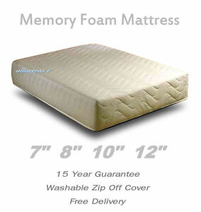 Image Is Loading Memory Foam Orthopedic Matress Single Double King Bed