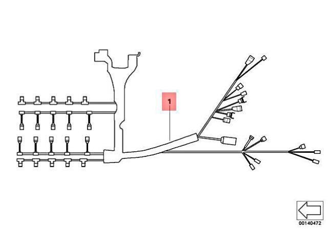04-10 BMW E63 M6 S85 Engine Wire Harness OEM 12517838569
