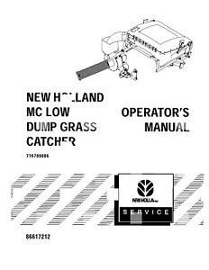 NEW HOLLAND Low Dump Grass Catcher For Mc ATTACHMENT