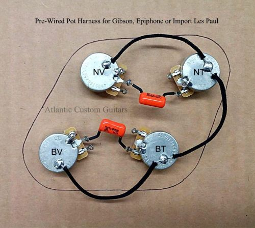 small resolution of 920d jimmy page style wiring harness for les paul bourns 500k long shaft pots for sale online ebay
