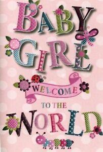 New Born Congratulations Images : congratulations, images, Girl~, Welcome, Girl~Greeting, Card~Caterpillar~, Congratulations~