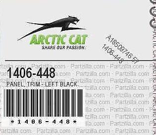 NEW 04-07 ARCTIC CAT 400 DVX NOS PANEL BODY LEFT HAND LH