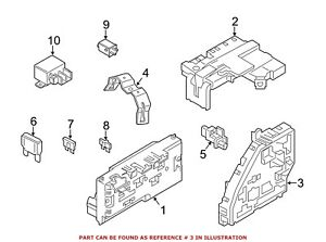 For BMW Genuine Fuse and Relay Center Front Lower