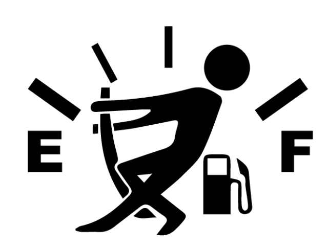 Empty Gas gauge meter funny stick figure Car Phone Laptop