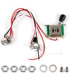 prewired guitar wiring harness 250k pots 3 way switch for fender tele parts [ 1200 x 1200 Pixel ]