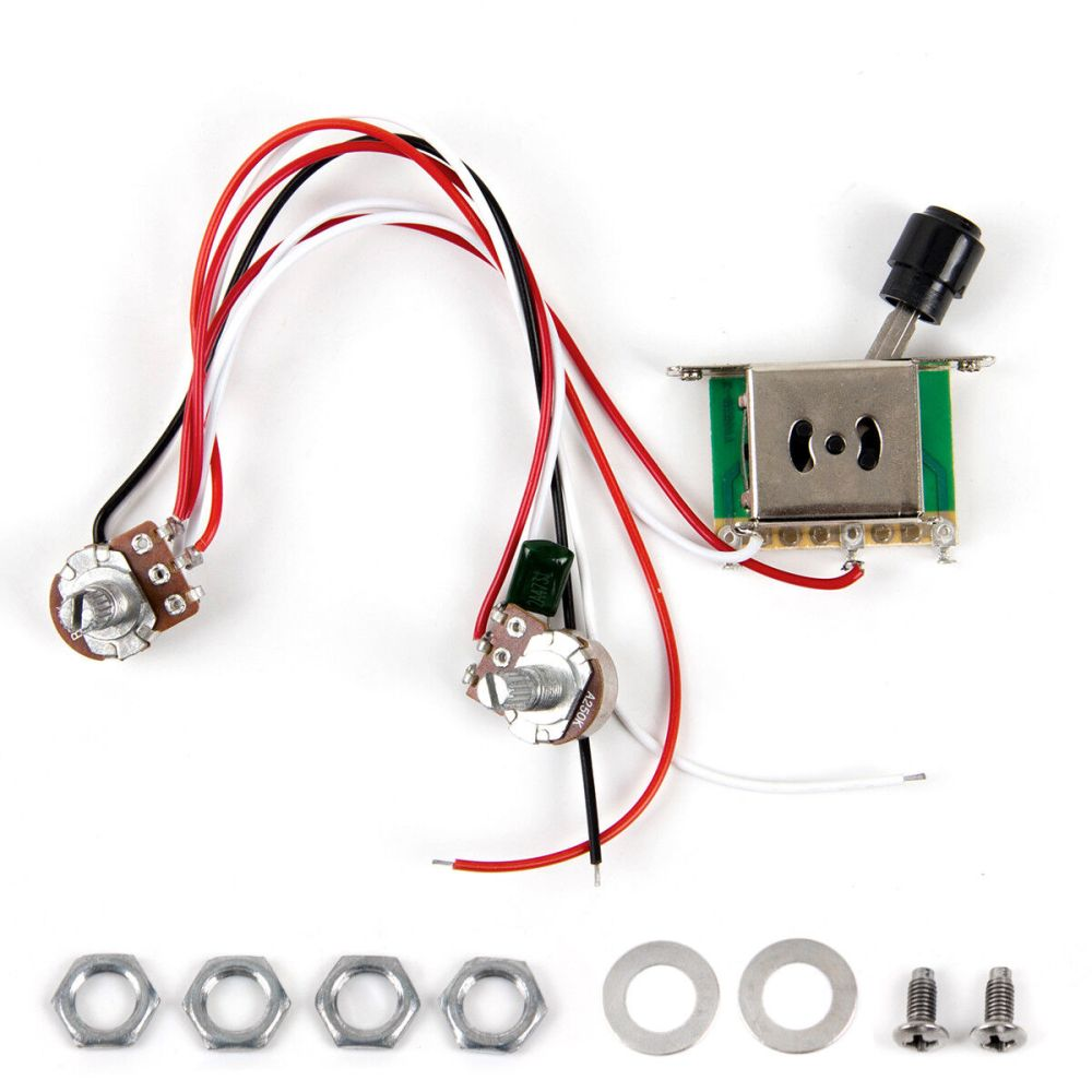 medium resolution of prewired guitar wiring harness 250k pots 3 way switch for fender tele parts