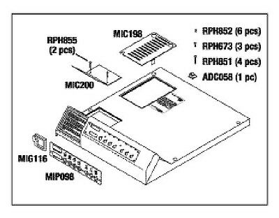 Ritter Midmark M11 Top Cover Kit, RPI Part #MIK197 OEM