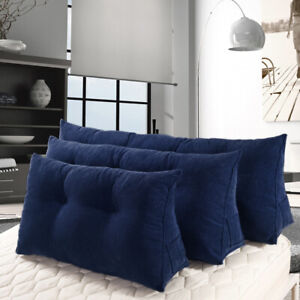 details about daybed cushion filled wedge triangular pillow support reading headborad for sofa