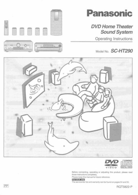 Panasonic SA-HT290 Home Theater System Owners Instruction