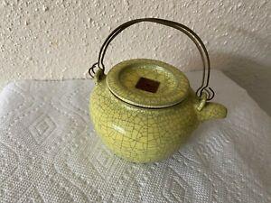 Antique Chinese Yixing Zisha ClayTeapot Glazed signed