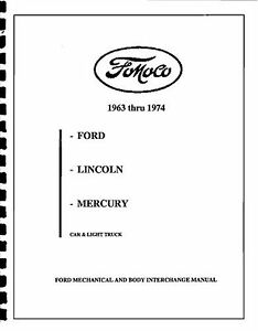 MUSTANG PARTS INTERCHANGE MANUAL 64 65 66 67 68 69 70 71