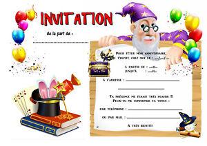 5 12 ou 14 ou 20 cartes invitation