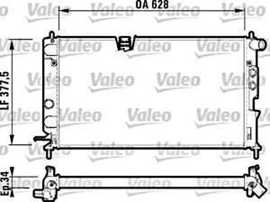 VALEO Engine Cooling Radiator Fits OPEL Vectra Sedan Wagon