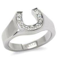 Stainless Steel Horseshoe Ring Engagement / Promise FSH A5 ...