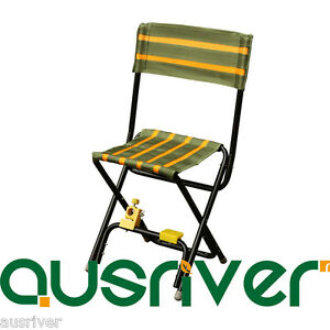 folding chair fishing pole holder rattan armchairs uk portable outdoor seat cloth stool with image is loading