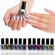 womens mirror nail polish effect