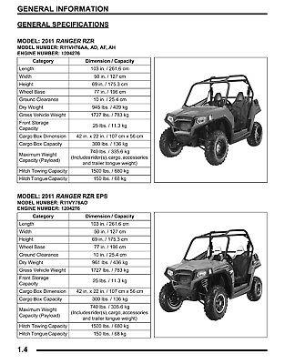 BEST Polaris Ranger RZR / S / EPS / 4 INT'L / 800 Service