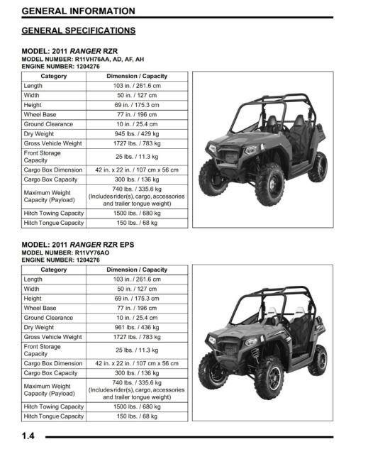 BEST Polaris Ranger RZR / S / EPS / 4 INT'L / 800 Service