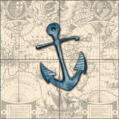 nautical tile backsplash sara mullen anchor art ceramic mural sm030 ebay