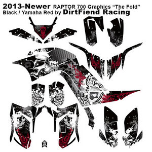 "Raptor 700 Graphics 13-Newer DFR ""Fold"" Black Yamaha Red"