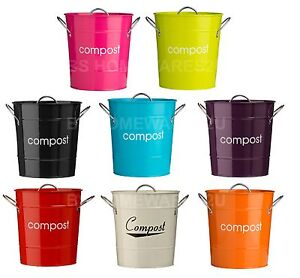 compost bin for kitchen waffle weave towels metal bucket caddy galvanized waste recycle soil image is loading