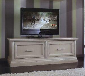 MOBILE BASE PORTA TV PLASMA IN LEGNO LACCATO 2 CASSETTONI x SALA SOGGIORNO 3053  eBay