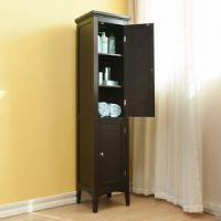 2 Door Linen Tower Storage Cabinet Bathroom Towel Shelves ...