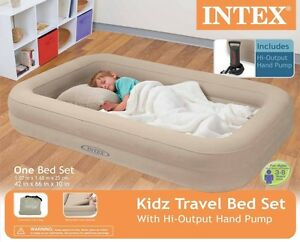 Image Is Loading Intex Travel Bed Kids Child Inflatable Airbed Toddler