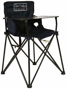baby camp chair design png navy blue folding portable travel high camping video image is loading