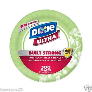 Dixie Ultra Heavy Duty Disposable Microwavable Paper Plate