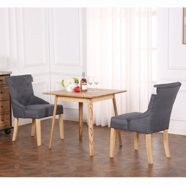 scoop back dining room chairs strong chair set of 2 deluxe fabric lounge office bedroom reception