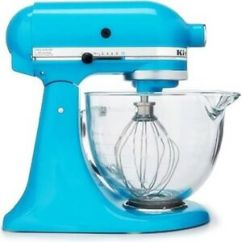 Kitchen Aid Glass Bowl Cabinets For Sale Kitchenaid Crystal Blue 5qt Tilt Head Stand Mixer Image Is Loading 034