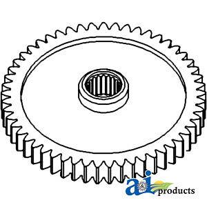 A-1671706M4 Massey Ferguson Parts GEAR CONSTANT MESH PTO