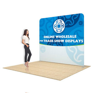 8ft Straight Portable Tension Fabric Backdrop Banner Display Single Graphic 604776913498 | eBay