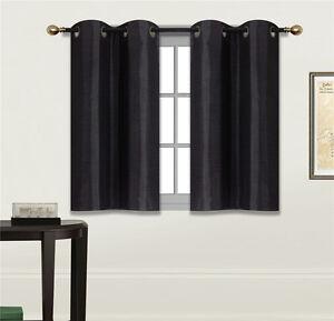 details about 2 panels bedroom half window curtain kitchen window tier 36 length n25