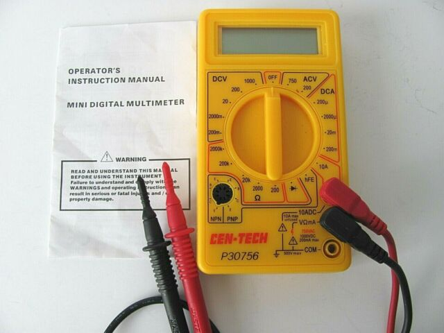 This versatile 7 function digital multimeter provides precise measurements and tests for a variety of electronics. Cen-tech P30756 Mini Digital Multimeter for sale online | eBay