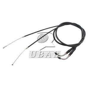 Set 2pc Black 130CM Throttle Cable Wire For Harley