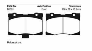 EBC Yellowstuff Brake Pad Set Front for 05-13 Acura RL 3.5