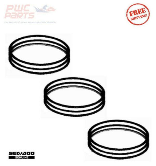 3x SeaDoo OEM BRP Piston Ring Set 2006-2018 4-TEC RXT-X