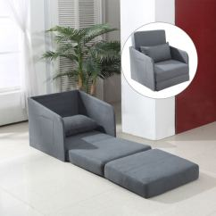 Single Sofa Design Camping Sites Sofala Nsw Homcom Bed Soft Floor Sleeper Couch Lounger Futon W Armchair Pillow