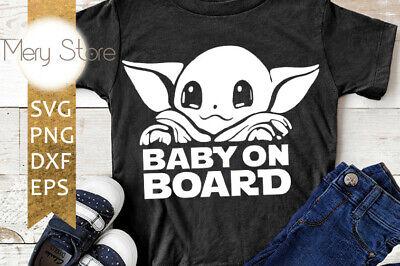 Download Baby yoda SVG,SVG file PNG file, DXF file, EPS file ...