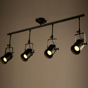 details about retro industrial track lighting adjustable metal ceiling spotlight light fixture