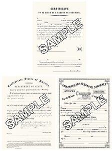 Civil War Confederate, Discharge, Travel Pass, Consent