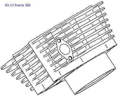Kawasaki OEM Engine Cylinder 360 Prairie 2003-2013 KVF360