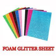 fine glitter fabric a4 sheet foam